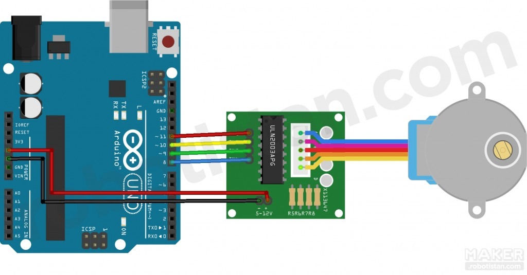 Step Motor Arduino Bağlantısı