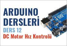 arduino dc motor hız kontrolü