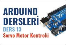 arduino servo motor kontrolü