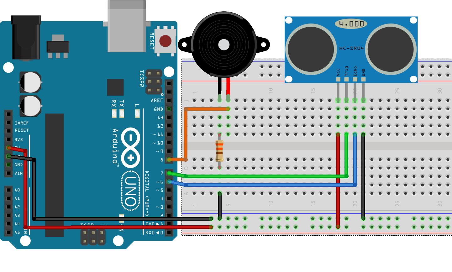 Arduino ile basit park sensörü yapımı robotistan