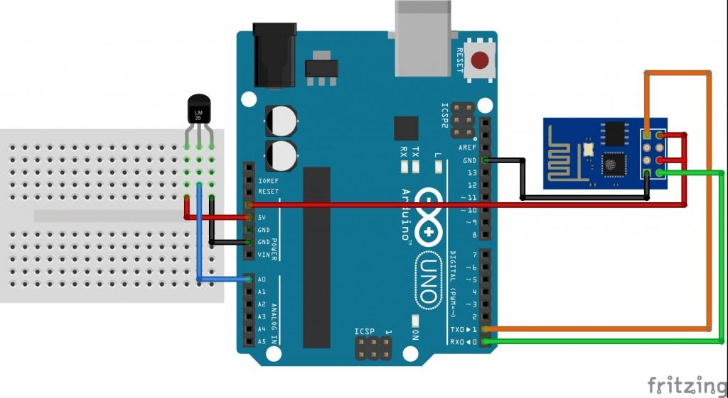 ESP8266 bağlantı şeması