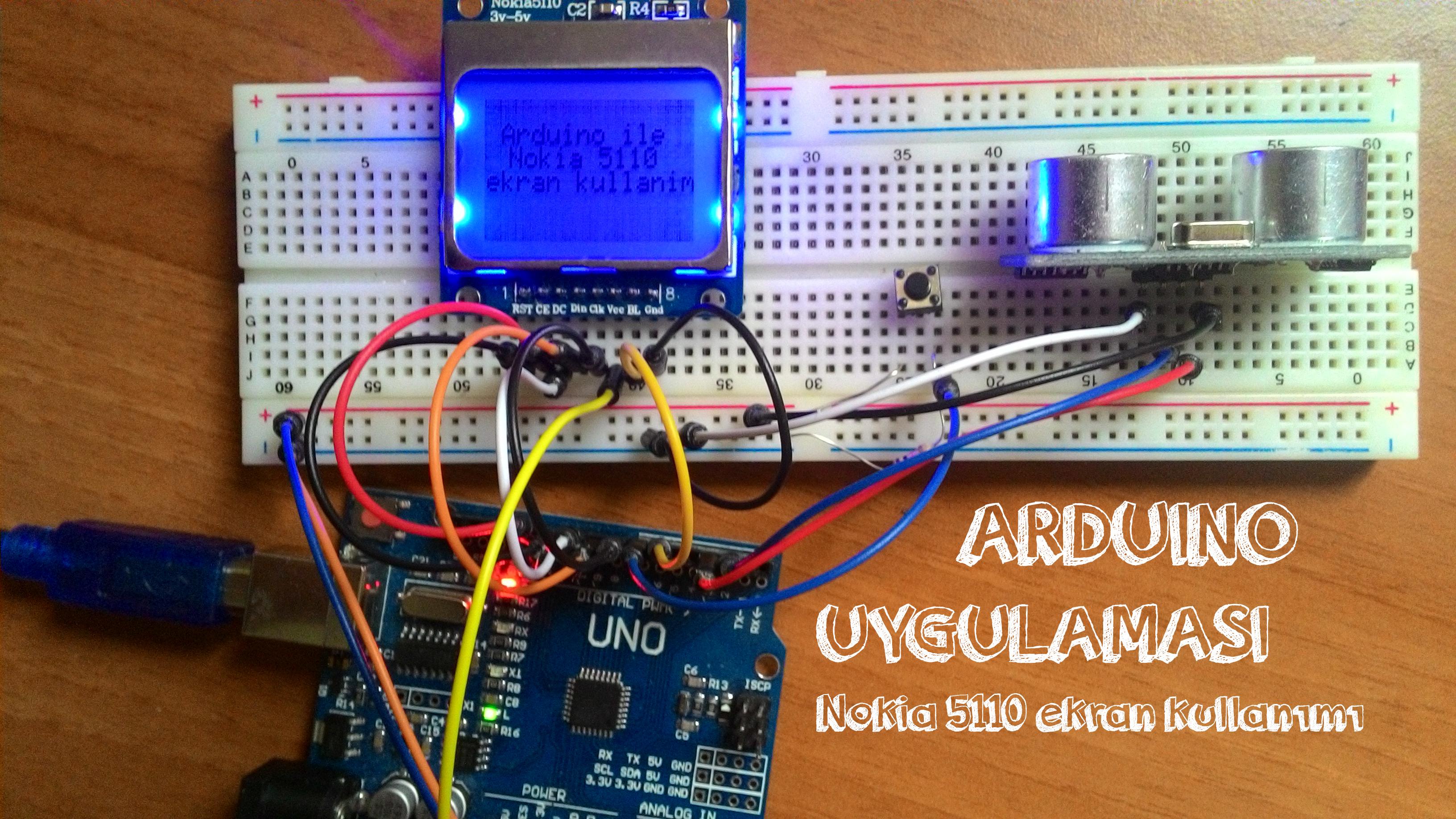 Arduino Ile Nokia 5110 Ekranı Kullanımı Robotistancom