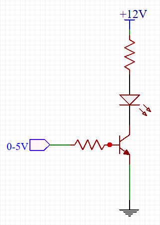 Transistör ile led anahtarlama devresi