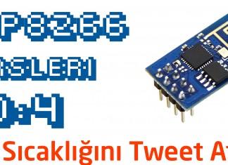 esp8266 ile oda sıcaklığını tweet atma