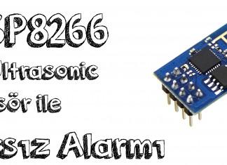 esp8266 ve ultrasonic sensör ile hırsız alarmı