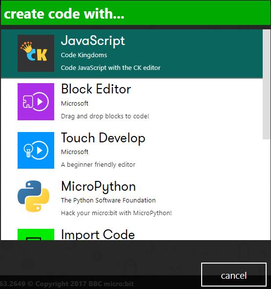 micro:bit için programlama seçenekleri