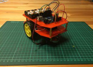 çizgi izleyen robot gövde montajı