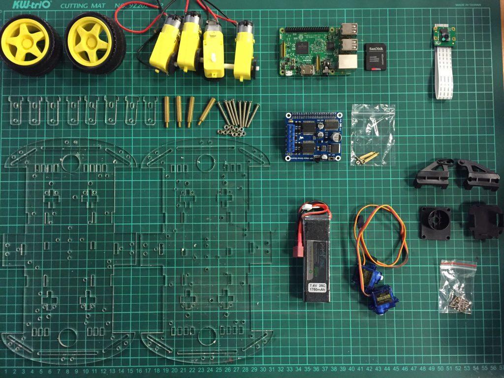Raspberry Pi Robot Malzemeleri