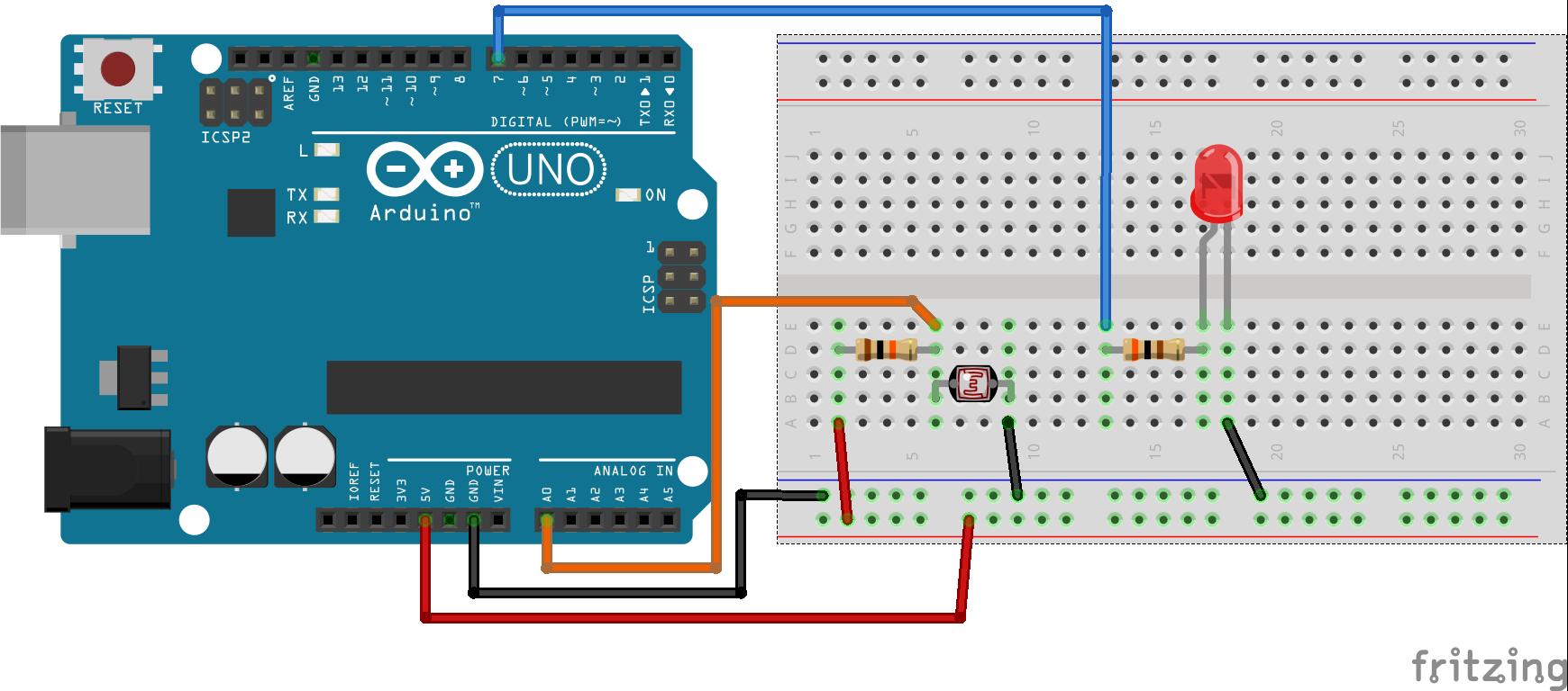Arduino LDR Devresi