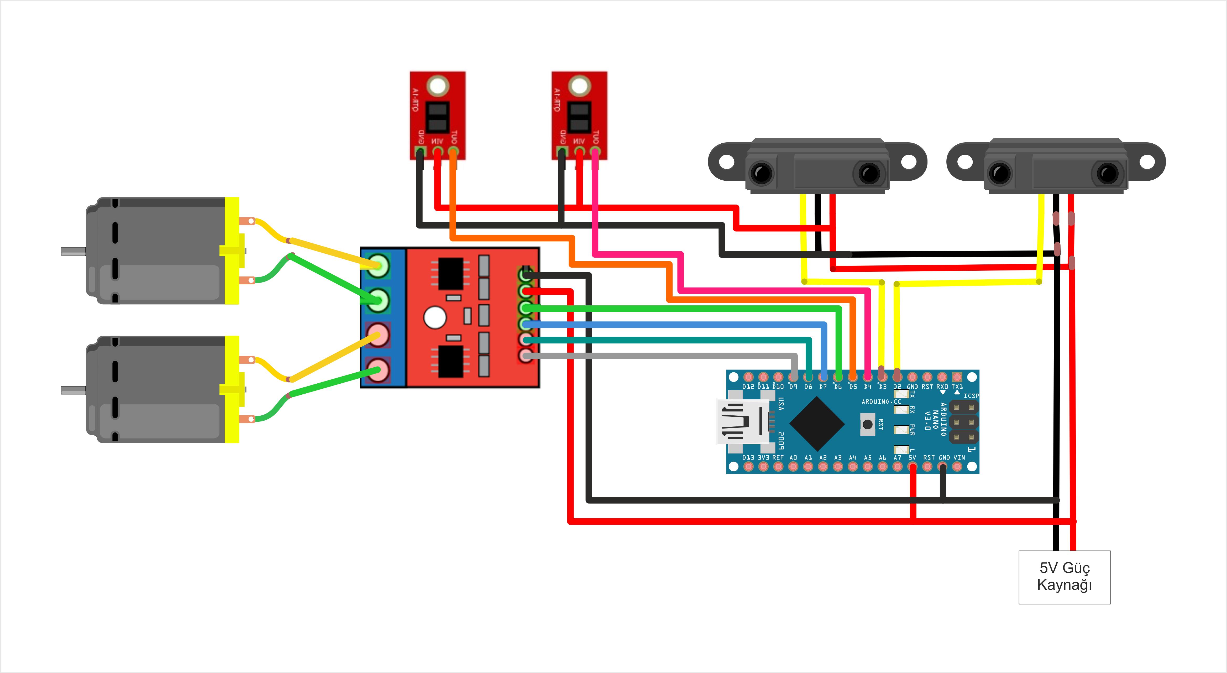 Sumo Robot Devre Şeması