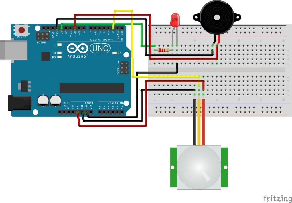 Arduino Hırsız Alarmı Devresi
