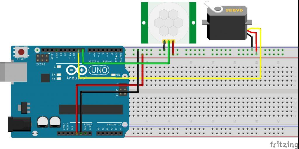 PIR Sensörü Servo Motor Devresi