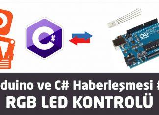 Ardunio ve C# ile RGB led kontrolü