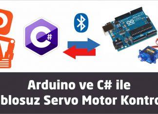 Arduino ve C# ile kablosuz Servo Motor Kontrolü