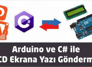 Arduino ve c3 LCD ekrana yazı gönderme