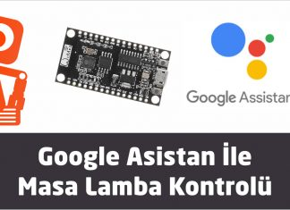 Google asistan ile masa lamba kontrolü yapılması