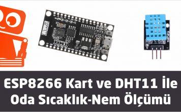 ESP8266-DHT11 oda sıcaklık ve nem ölçümü