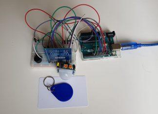 Arduino, PIR Sensör ve RC522 RFID Modülü görseli
