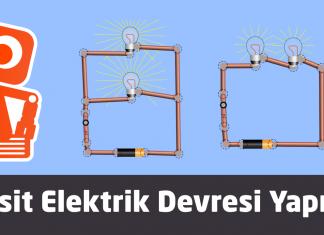 Basit elektrik devresi görsel