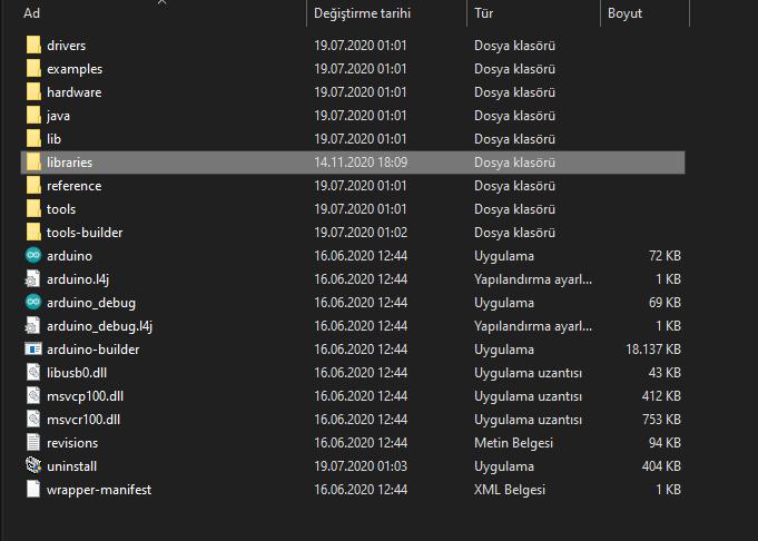 Arduino Ide Program Dosyaları