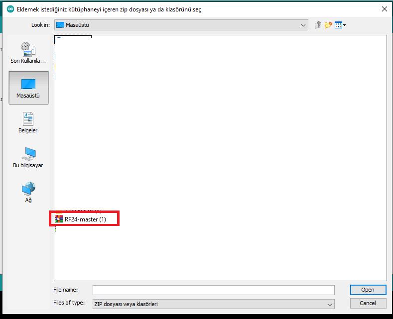 Arduino Ide Kütüphane Çağırma Sayfası