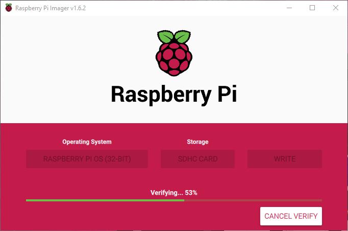 Raspberry Pi Imager Doğrulama İşlemi
