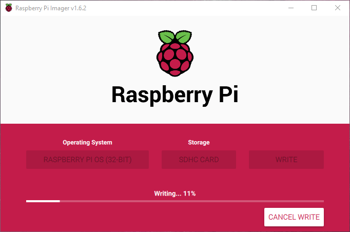 Raspberry Pi OS Mikro SD Karta Yazma
