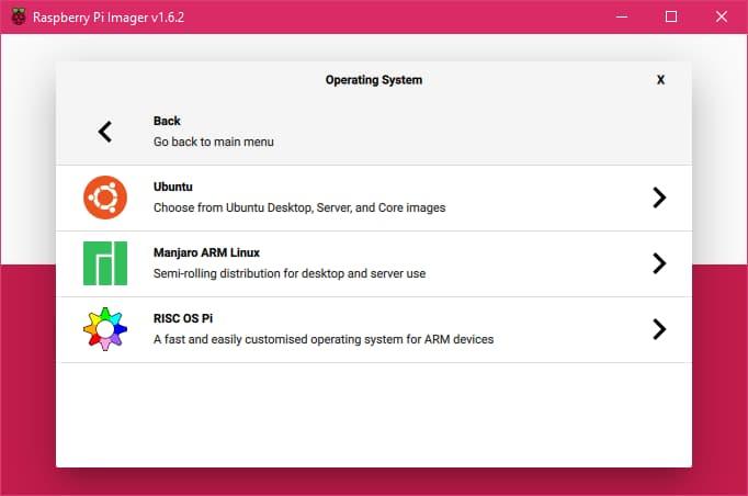 Raspberry Pi Imager Ubuntu İşletim Sistemi Seçme