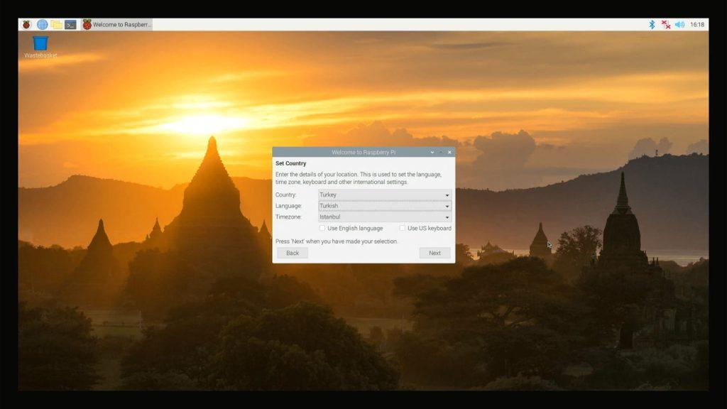 Raspberry Pi OS Dil ve Bölge Ayarları