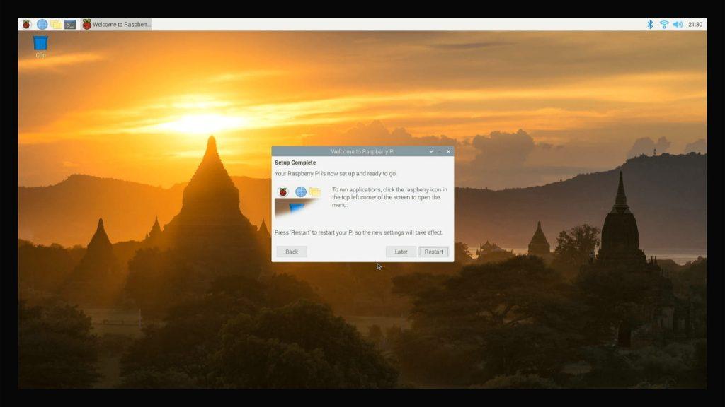 Raspberry Pi OS Restart Ekranı