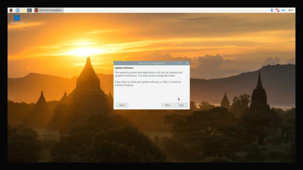 Raspberry Pi OS Güncelleme Ekranı