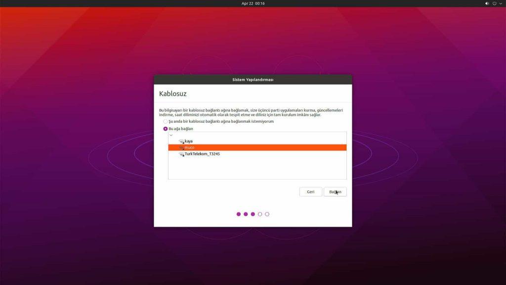 Ubuntu Desktop 21.04 Wi-Fi Ayarı