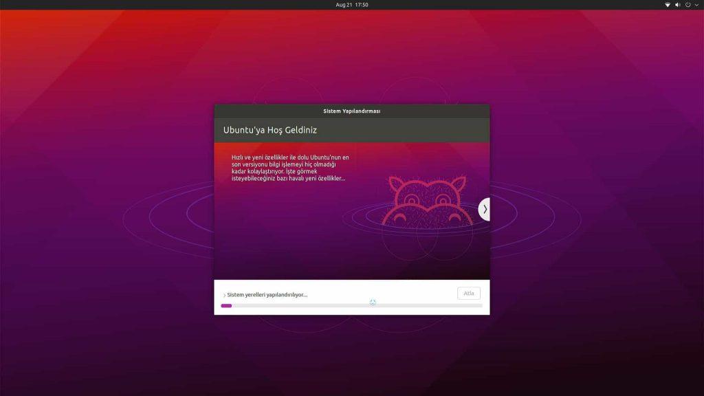 Ubuntu Desktop 21.04 Sistem Yapılandırması