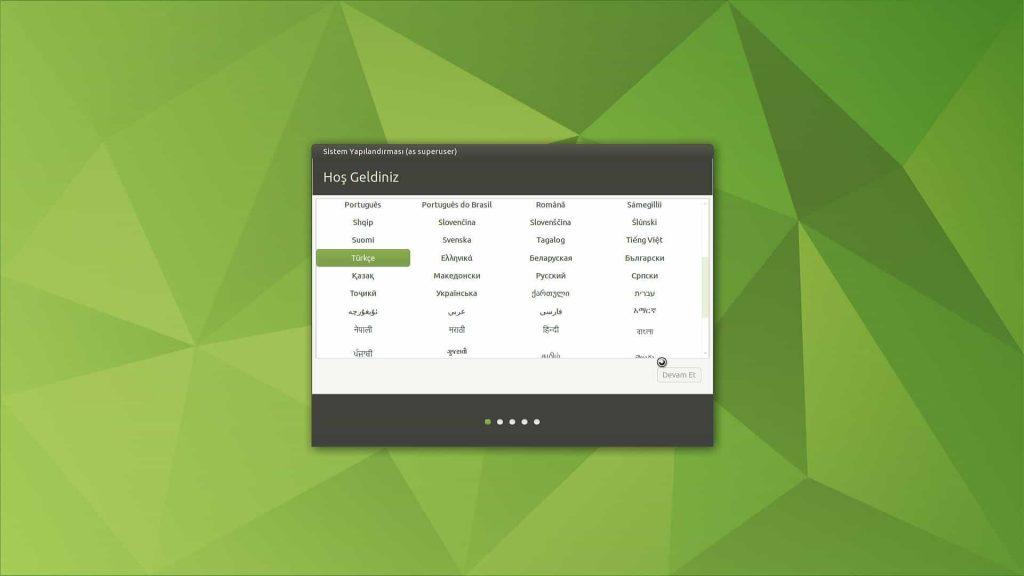 Ubuntu Mate 20.04 Dil Ayarı