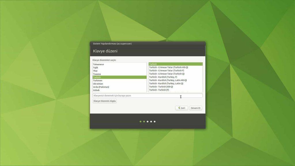 Ubuntu Mate 20.04 Klavye Ayarı