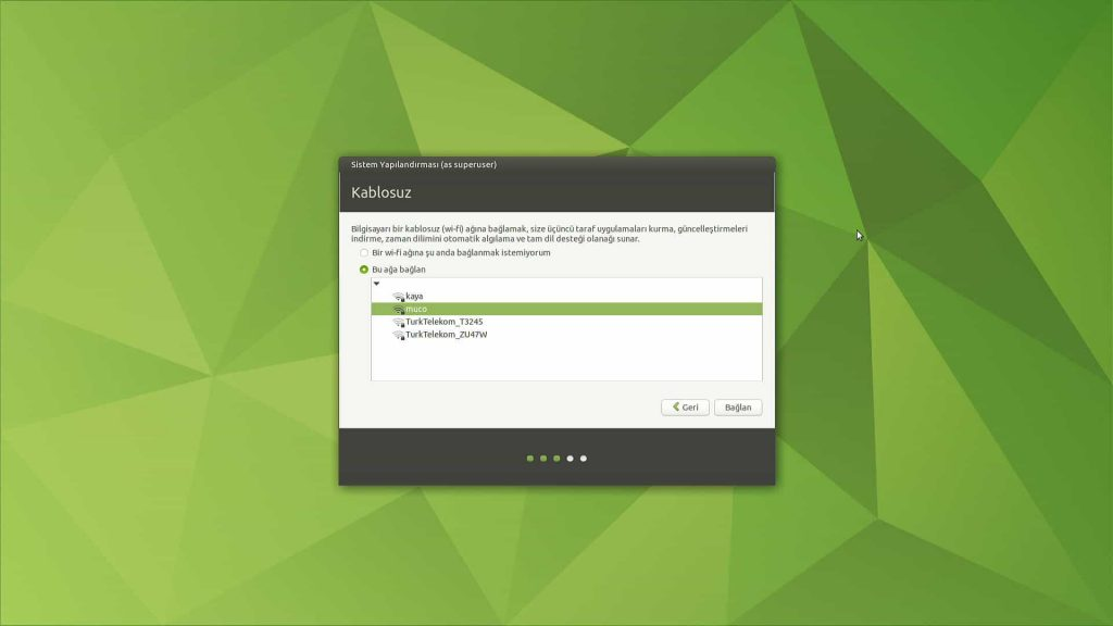 Ubuntu Mate 20.04 Wi-Fi Ayarı