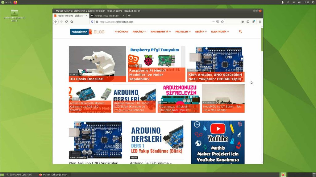 Ubuntu Mate 20.04 Arayüz